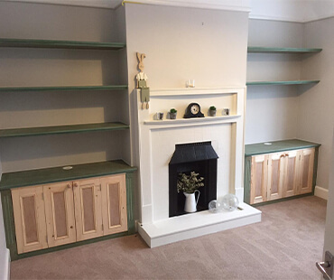 GE Carpentry, bespoke storage living room shelving