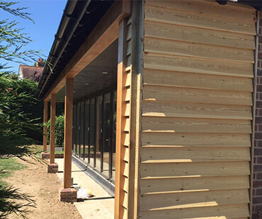 GE Carpentry, exterior shed cladding