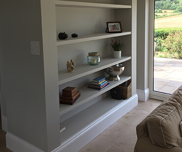 GE Carpentry, living room shelving