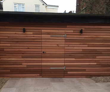 GE Carpentry, outside shed cladding