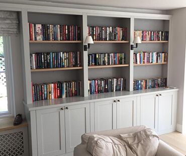 GE Carpentry, custom bookshelves 1